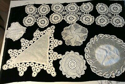 Antique Lace Doilies Hand Made Beautiful Collection of 8