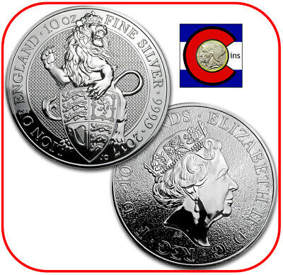 2019 Queen/'s Beast Falcon 2 oz Silver CoinDirect From Royal Mint Tube