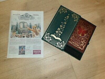 Tomorrowland 2019 Treasure Case Bracelet Box | Book of Wisdom Newspaper