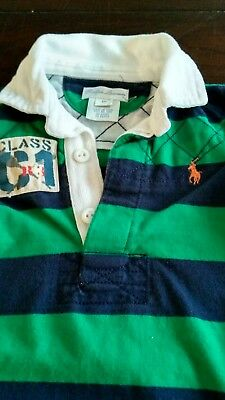 Baby Boys POLO Ralph Lauren 6 months short sleeved romper green blue stripe