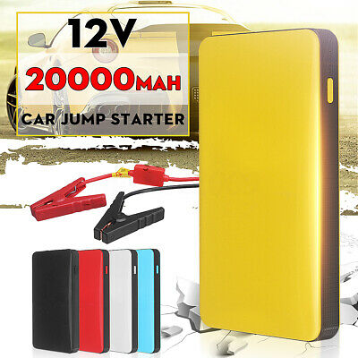 20000mAh 12V 2A Car Jump Starter Booster Charger Battery Smartphone Power