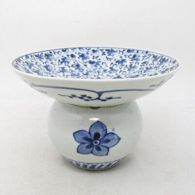 A540: Rare Japanese fine KO-IMARI blue-and-white porcelain vase of HANAKARAKUSA