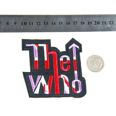 Fashion Trends THE WHO Logo Sleeve Hat Sew on Applique Embroiderd  Patch DIY