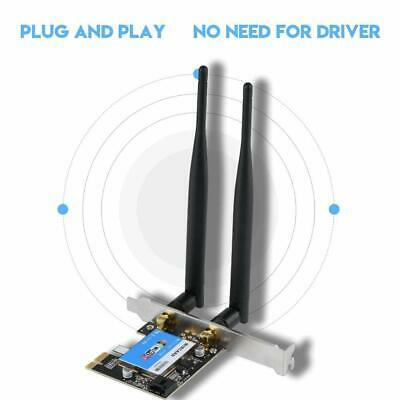 2.4/5G 433M WiFi Wireless Bluetooth PCI-E Network Card 802.11AC For Desktop PC