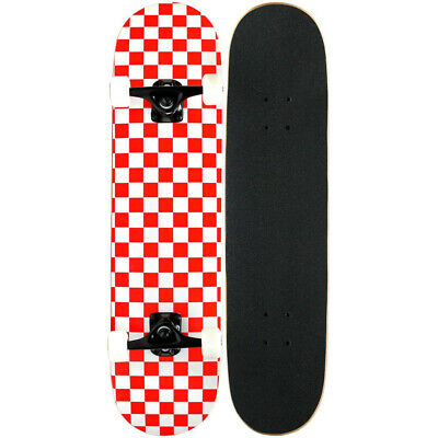 KPC Pro Skateboard Complete Red and White Checker