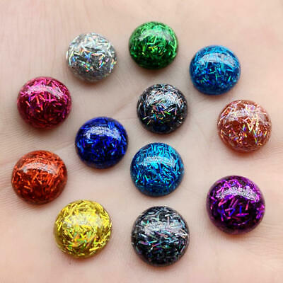 20 pcs Bling Round Resin sequin 12mm flatback rhinestone Ornaments Wedding craft