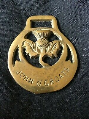 Vintage John O' Groats Horse Brass. Bought in England in 1980.
