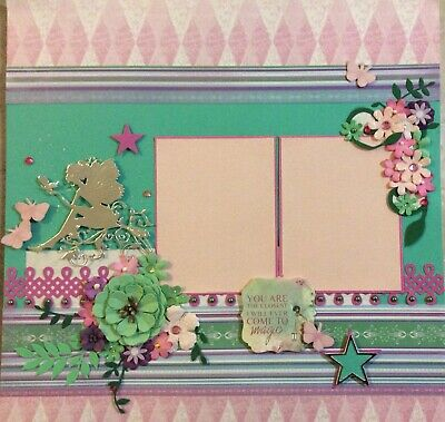 handmade scrapbook page 12 X 12 Fairy Magic Themed Layout