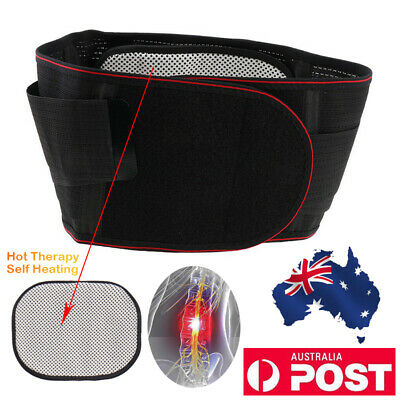 Magnetic Lumbar Brace Lower Back Support Adjustable Strap Belt Wrap Relief Pain