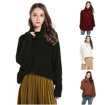 Thick Knitted Sweaters Solid Warm Turtleneck Long Sleeve Autumn Winter Sweater