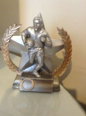 """RUGBY TROPHY x TWO - MALE 7 3/4"""" (19cm)  RETAILED AT £11 x 2 = £22"""