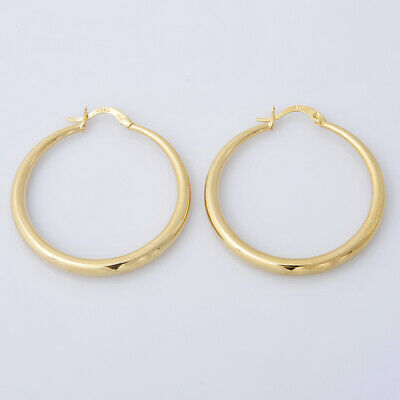 14K Yellow Gold Hoop Earrings For Women Jewelry Gifts Dangle Drop Earring
