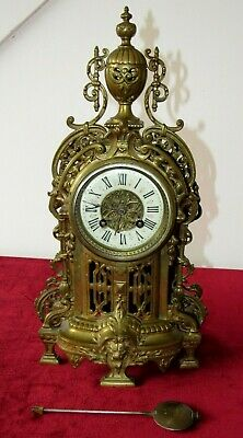 Nice French 19th Century Brass Bell Striking Mantle Clock
