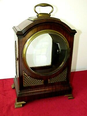 Top Quality English Mahogany Pad Top Bracket Clock Case