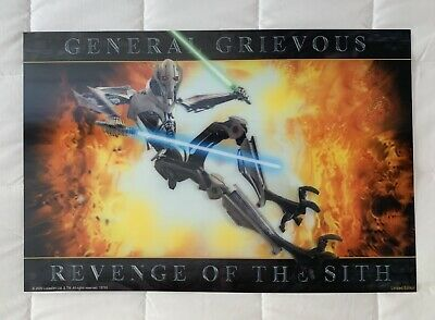 Star Wars Repro Film Movie Poster Revenge Of The Sith General Grievous Not Dvd 6 99 Picclick Uk