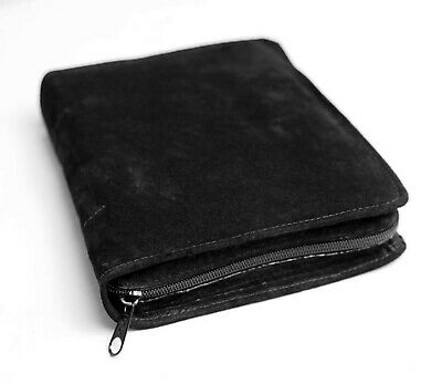 """Black Authentic Pig Suede Bible Cover Case for Compact 4.25"""" x 6"""" Bible - NEW!"""