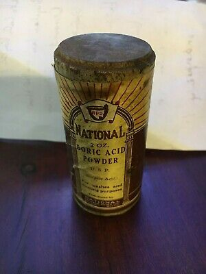 Vintage Unopened Boric Acid Powder National Package Drugs Co St Louis Good Cond