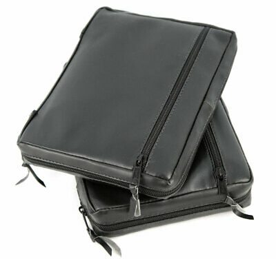 Black Artificial Leather Scripture Cover Cases for LDS Bible / Triple Set  - NEW