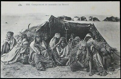 CPA Old Postcard - Camp of nomads in the desert. North Africa.