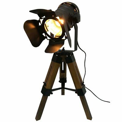 Decoluce Nautical Black Tripod Spot Light Cinema Vintage Searchlight Spotlight