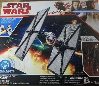 Star Wars The Last Jedi First Order Tie Fighter Force Link Walmart Exclusive New