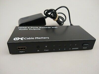 Cable Matters HDMI 4 Ports Switcher With Audio Outputs