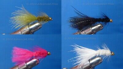 Woolly Bugger Brown Beadhead BH  Size 8-1 Dozen Wet Trout Fly F782