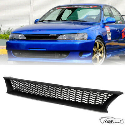 For 1993 1997 Toyota Corolla DX Black Mesh Front Grille Upper Hood Grill