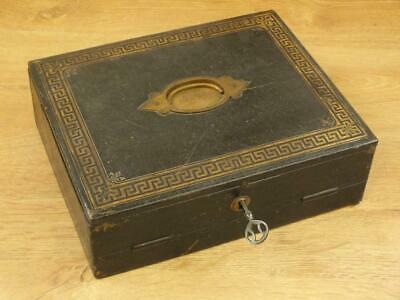 Superb Antique Victorian Writing Slope Box Tooled Leather Penrose Berryman