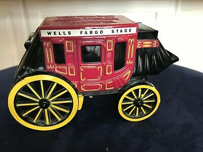 BRAND NEW 2011 WELLS FARGO STAGE COACH COIN BANK -- Includes Key