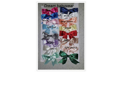 Dream Knee High Girls Ribbon Bow Choice 16 Colours  Socks All Sizes Or Reborn