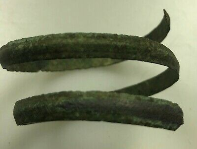 Authentic Ancient Lake Ladoga VIKING Artifact > Bronze Spiral Bracelet  VV77