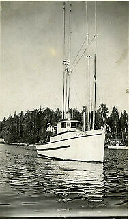 View of Farris, owned by Peder Jensen and built by Edward Wahl, Digby Isla 913