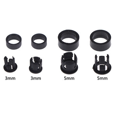 20Set 3mm/5mm Plastic LED Holders Clips-Bezels Mounts Cases With Outer r lx