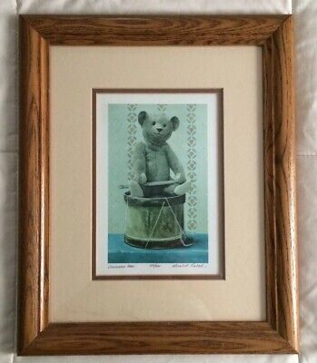 Drummer Bear By Gerald Lubeck Pencil Signed & Numbered Limited Framed Lithograph