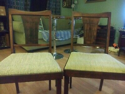 Antique Folding Chairs- Wooden- 2 In The Set
