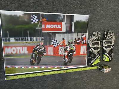 Cal Crutchlow #35 personal ~ MOTOGP ~ Spidi Gloves & Pic ~ Race WORN & SIGNED !