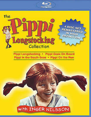 The Pippi Longstocking Collection (Blu-ray Disc, 2015, Region A, 4-Disc Set)