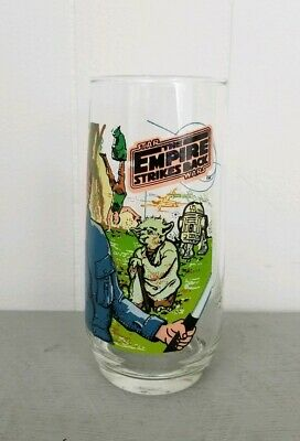 Vintage Star Wars Empire Strikes Back 1980 Luke Skywalker Burger King Glass Cup