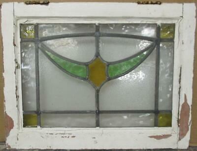 "OLD ENGLISH LEADED STAINED GLASS WINDOW Stunning Swag Design 21.75"" x 16.75"""