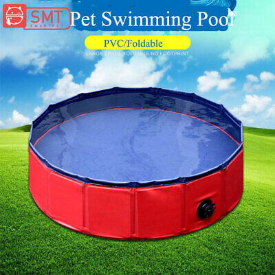 PVC Foldable Pet Dog Cat Swimming Pool Washing Pond Tub Bed Large Small Dogs New