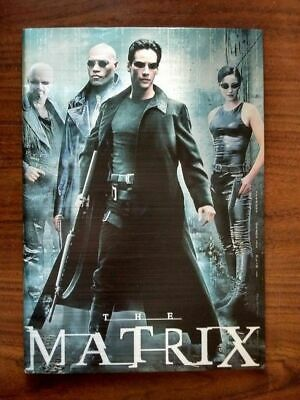 The Matrix 1999 Japanese Release Movie Program 10x14 Metallic Cover 30+ Pages VF