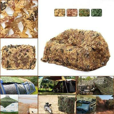 Woodland Camouflage Camo Army Net Hide Netting Camping Shelter Hunting Mili Q4C8