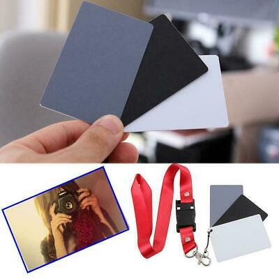 4PCS Digital Color Balance 18% Gray Card 3in1 Black White Grey For Photogra X6R3