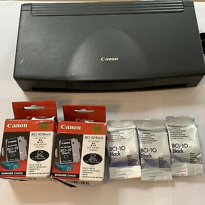 Canon BJC-80 Color Bubble Jet Printer K10156 w/ Power Cord And Ink