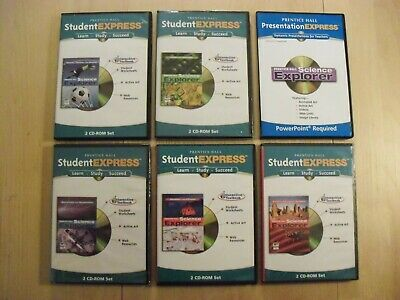 PRENTICE HALL PHYSICAL Science 8th GRADE 8 CD ROM TESTS With