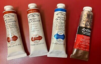 New Lot Of 4 & Winsor & Newton Artists Oil Colours - 37ml Each