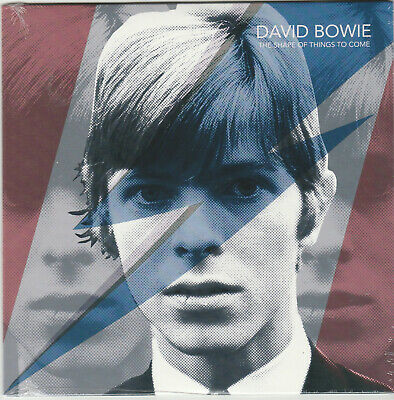 """David Bowie The Shape Of Things To Come blue colored 7"""" vinyl single numbered"""