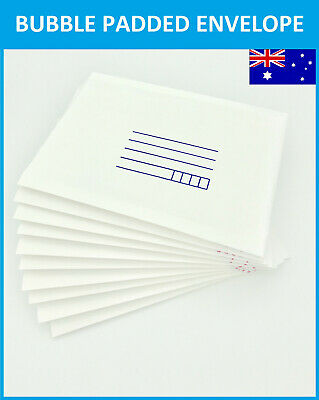 5/25/50pcs NEW AU 100mmX180mm Bubble Envelope Padded Bag Mailer 10X18cm - White