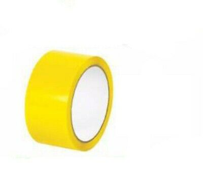 NEW 12 Roll Of  STRONG YELLOW COLOURED Packing Parcel Tape 50mmx66m,HIGH QUALITY